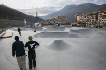 Скейт парк накурорте Красная Поляна