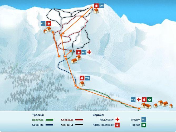 Альпика сервис карта трасс