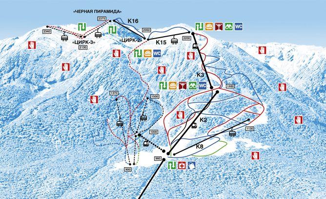 горная карусель схема трасс