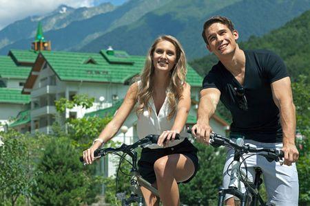 Открылись велодорожки на Газпроме на высоте 1500 м