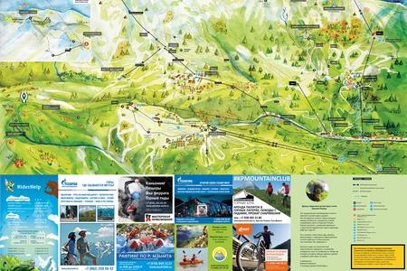 Летняя карта Красной Поляны