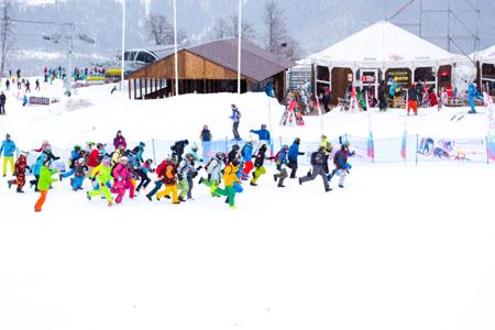 14 февраля состоялся первый в больших горах России горнолыжный сноуборд квест Big Snow Mountain Quest.
