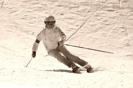 Мария. Инструктор погорным лыжам