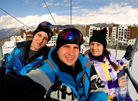 Ляпин Дмитрий. Сноуборд игорные лыжи.