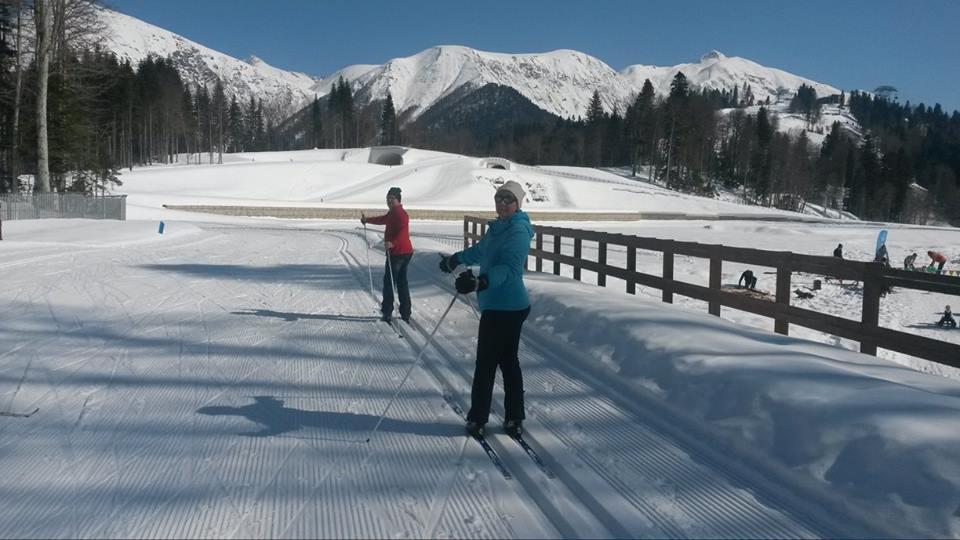 Беговые лыжи налыжно-биатлонном комплексе «Лаура»